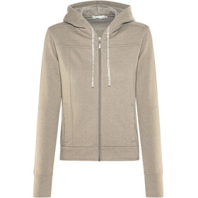 Prana Ari Zip Up Fleece Jacket Women Earth Grey